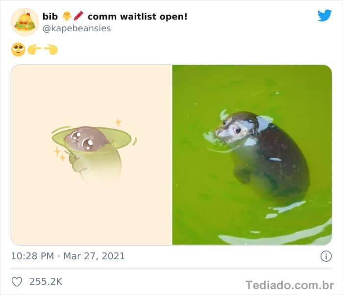 Bib transforma fotos engraçadas de animais em desenhos fofos 27