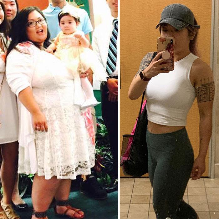 42 exemplos inspiradores de perda de peso que mostram o que a força de vontade e o trabalho árduo podem fazer 4