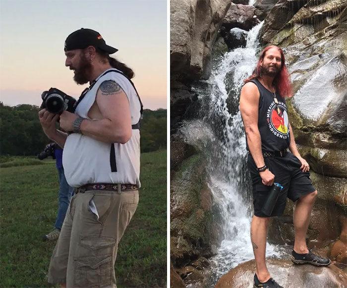 42 exemplos inspiradores de perda de peso que mostram o que a força de vontade e o trabalho árduo podem fazer 11