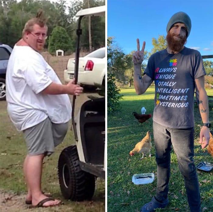 42 exemplos inspiradores de perda de peso que mostram o que a força de vontade e o trabalho árduo podem fazer 14