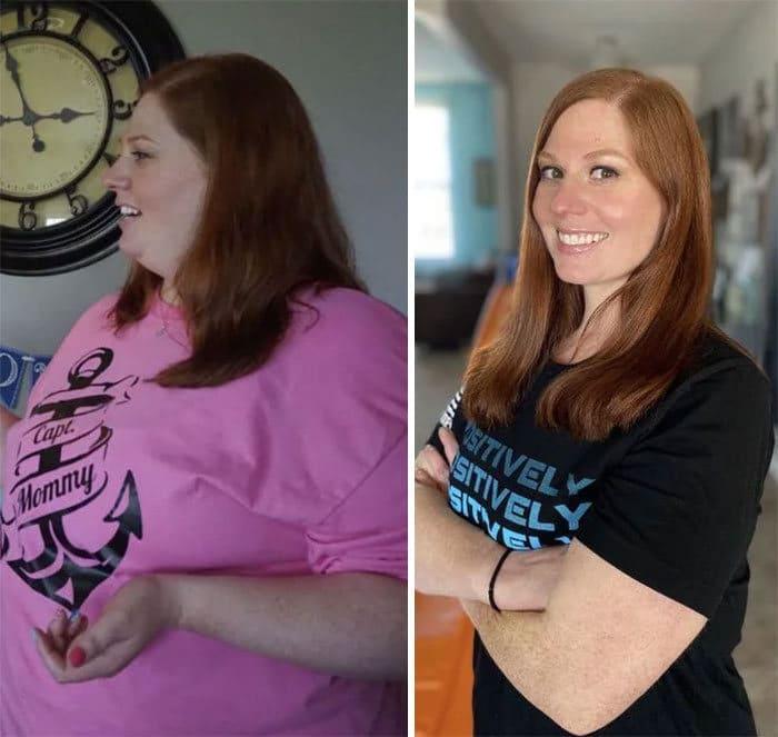 42 exemplos inspiradores de perda de peso que mostram o que a força de vontade e o trabalho árduo podem fazer 18