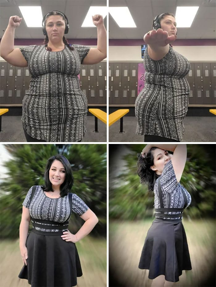 42 exemplos inspiradores de perda de peso que mostram o que a força de vontade e o trabalho árduo podem fazer 21