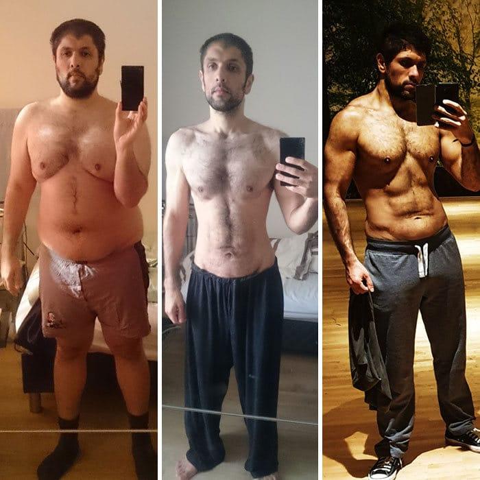 42 exemplos inspiradores de perda de peso que mostram o que a força de vontade e o trabalho árduo podem fazer 36