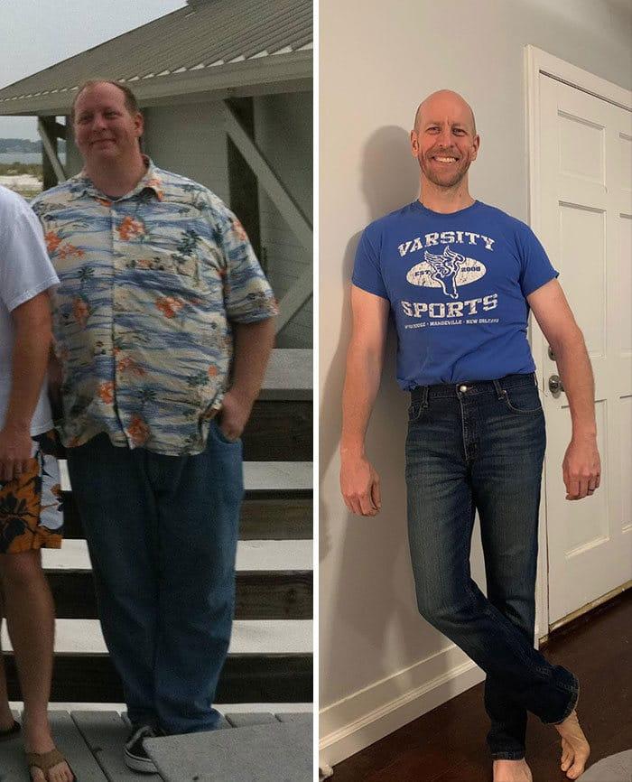 42 exemplos inspiradores de perda de peso que mostram o que a força de vontade e o trabalho árduo podem fazer 40