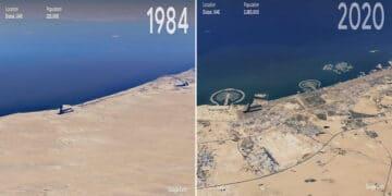 O Google Earth mostra o que os humanos fizeram com a Terra de 1984 a 2020 44