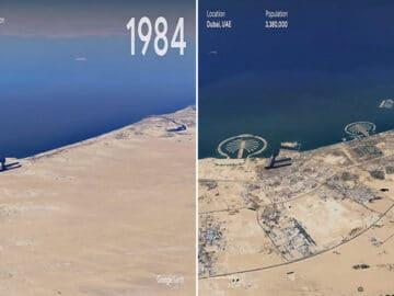 O Google Earth mostra o que os humanos fizeram com a Terra de 1984 a 2020 3
