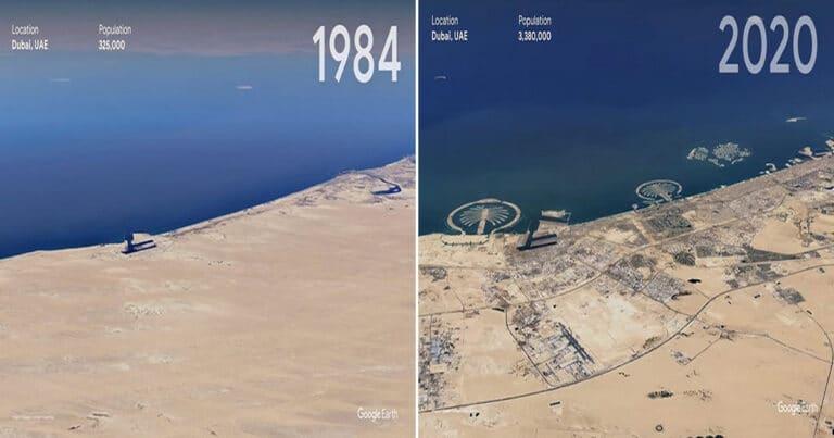 O Google Earth mostra o que os humanos fizeram com a Terra de 1984 a 2020 1