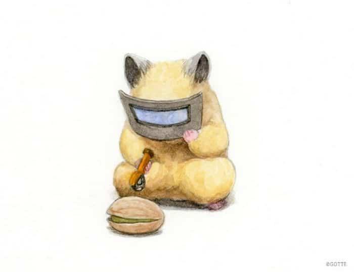 34 Ilustrações saudáveis de um Hamster Chamado Sukeroku 8