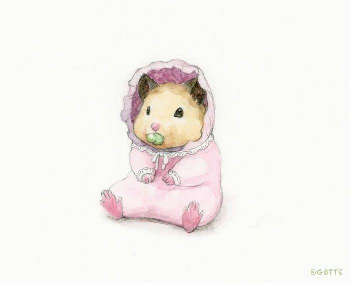 34 Ilustrações saudáveis de um Hamster Chamado Sukeroku 9