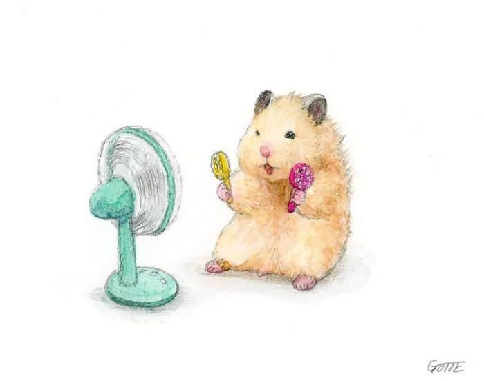 34 Ilustrações saudáveis de um Hamster Chamado Sukeroku 12