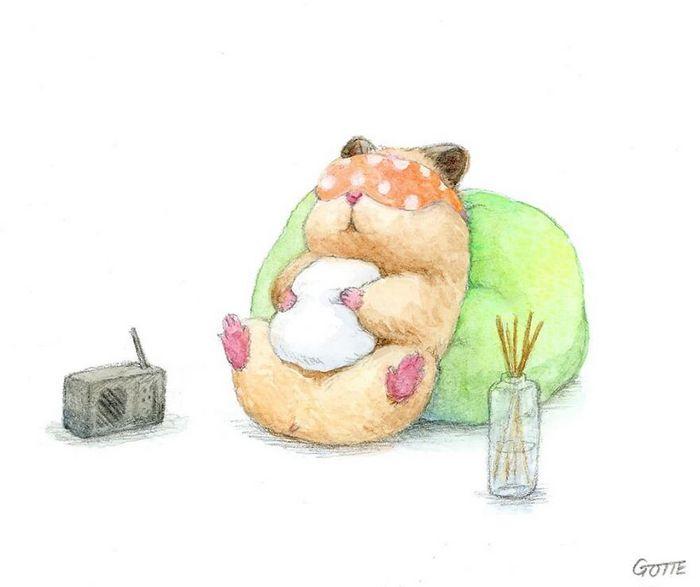 34 Ilustrações saudáveis de um Hamster Chamado Sukeroku 13