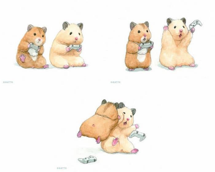 34 Ilustrações saudáveis de um Hamster Chamado Sukeroku 14