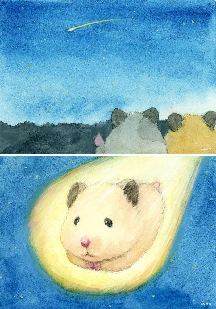 34 Ilustrações saudáveis de um Hamster Chamado Sukeroku 15