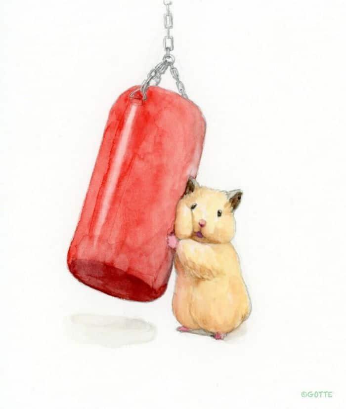 34 Ilustrações saudáveis de um Hamster Chamado Sukeroku 16