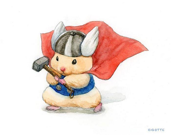 34 Ilustrações saudáveis de um Hamster Chamado Sukeroku 24