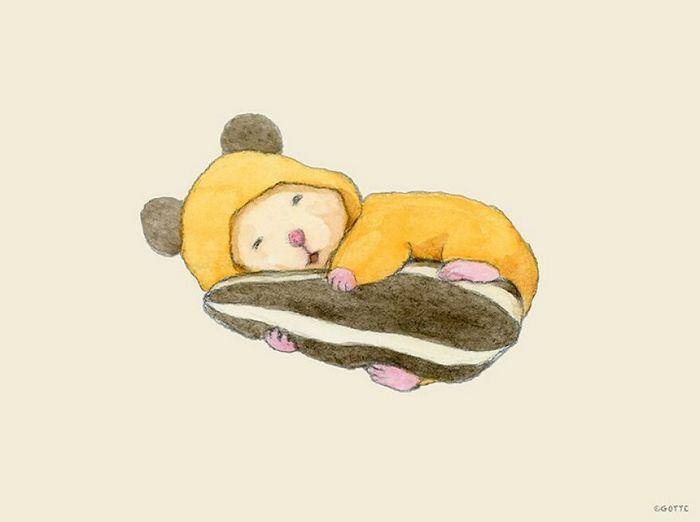 34 Ilustrações saudáveis de um Hamster Chamado Sukeroku 27