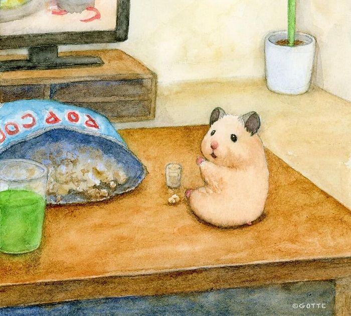 34 Ilustrações saudáveis de um Hamster Chamado Sukeroku 28