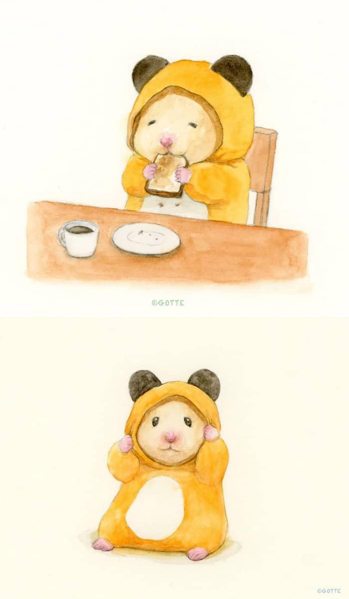 34 Ilustrações saudáveis de um Hamster Chamado Sukeroku 29