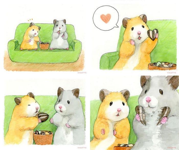 34 Ilustrações saudáveis de um Hamster Chamado Sukeroku 32