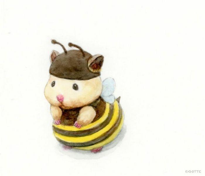 34 Ilustrações saudáveis de um Hamster Chamado Sukeroku 33