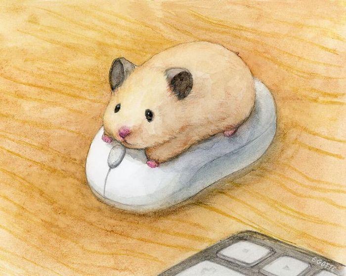 34 Ilustrações saudáveis de um Hamster Chamado Sukeroku 35