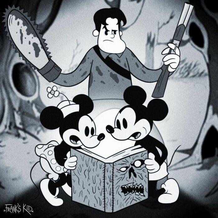 Mickey e Minnie encontram personagens de terror 7