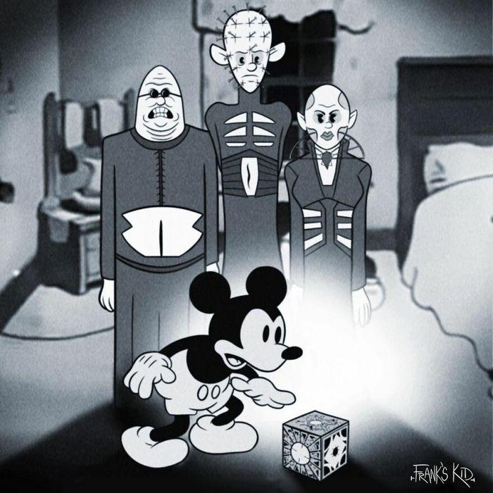 Mickey e Minnie encontram personagens de terror 11