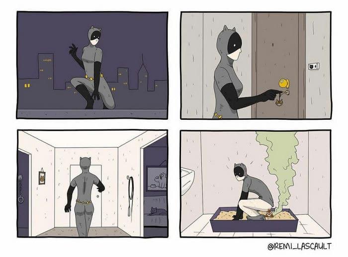 28 quadrinhos absurdos com finais muito sombrios, de Rémi Lascault 29