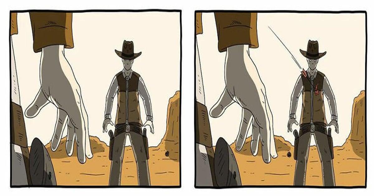 28 quadrinhos absurdos com finais muito sombrios, de Rémi Lascault 2