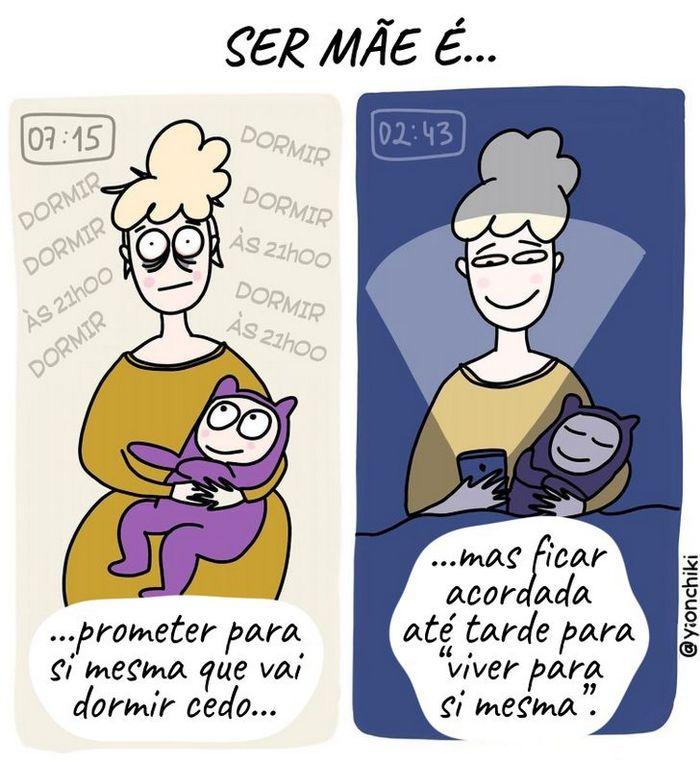 17 quadrinhos de como ser mãe é um desafio 7