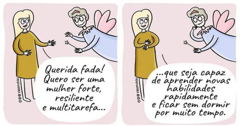 17 quadrinhos de como ser mãe é um desafio 1
