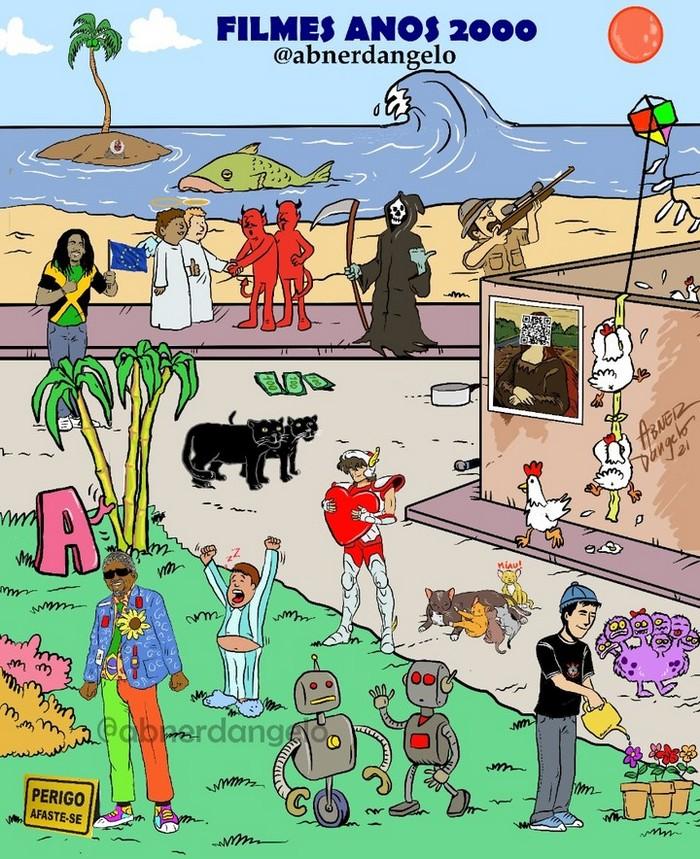 Qual é o máximo de coisas que você consegue encontrar nestes desenhos? 10