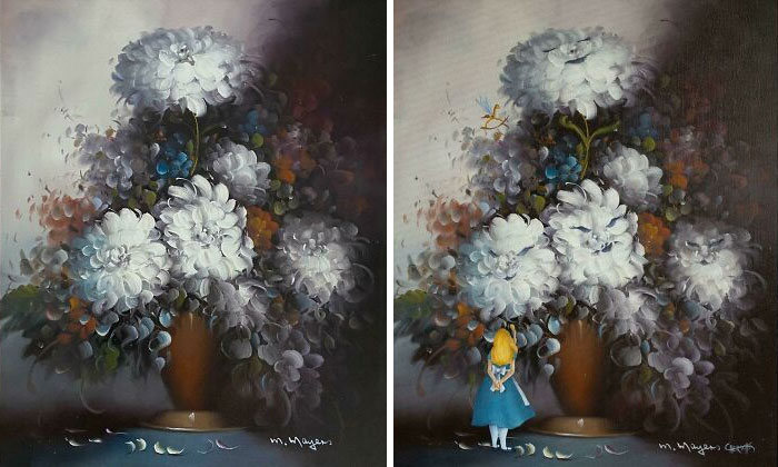 34 vezes que artistas repintou pinturas de brechós com seus pincéis 4