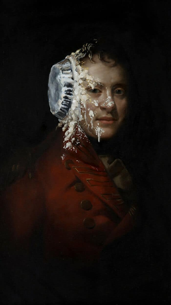 34 vezes que artistas repintou pinturas de brechós com seus pincéis 6