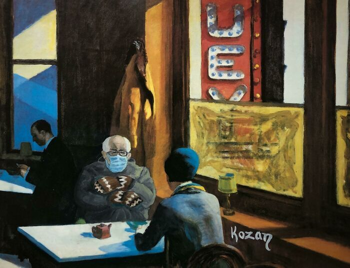 34 vezes que artistas repintou pinturas de brechós com seus pincéis 15