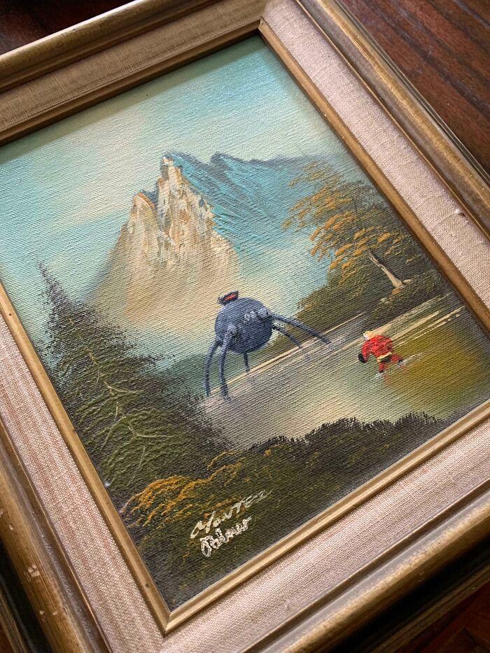 34 vezes que artistas repintou pinturas de brechós com seus pincéis 24