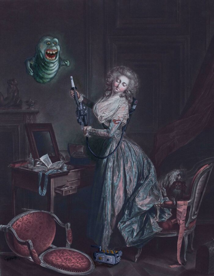 34 vezes que artistas repintou pinturas de brechós com seus pincéis 25