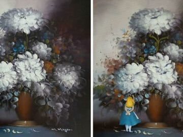 34 vezes que artistas repintou pinturas de brechós com seus pincéis 42