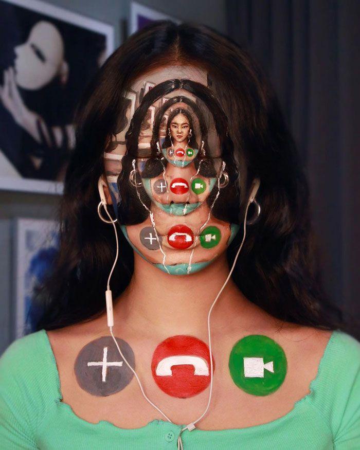 Artista cria ilusões óticas complexas em seu corpo e está bagunçando a mente das pessoas (31 fotos) 3