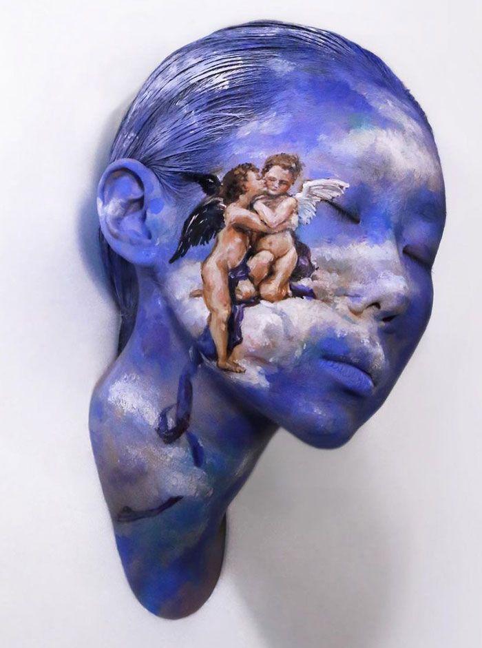 Artista cria ilusões óticas complexas em seu corpo e está bagunçando a mente das pessoas (31 fotos) 12