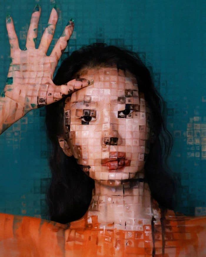 Artista cria ilusões óticas complexas em seu corpo e está bagunçando a mente das pessoas (31 fotos) 13