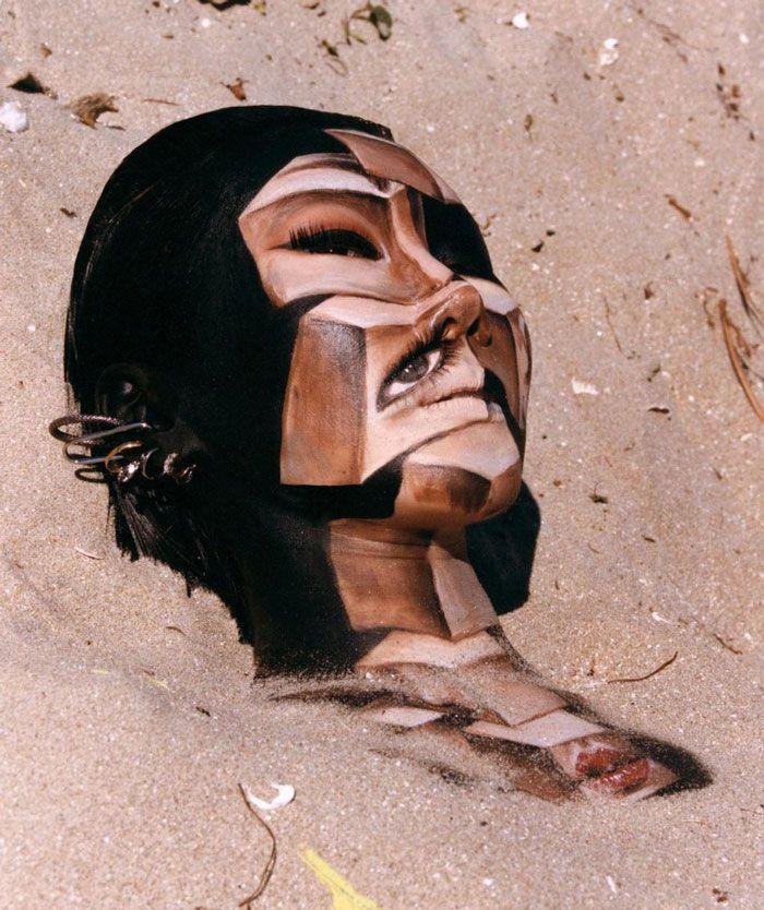 Artista cria ilusões óticas complexas em seu corpo e está bagunçando a mente das pessoas (31 fotos) 17