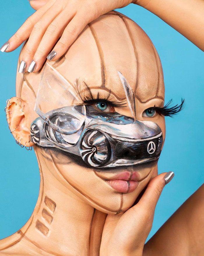 Artista cria ilusões óticas complexas em seu corpo e está bagunçando a mente das pessoas (31 fotos) 23