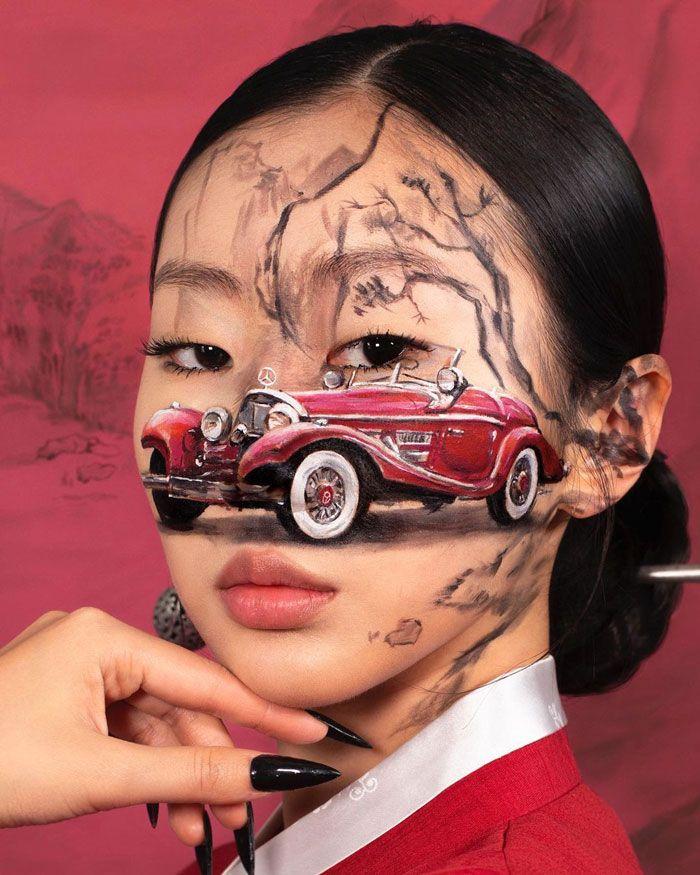 Artista cria ilusões óticas complexas em seu corpo e está bagunçando a mente das pessoas (31 fotos) 27