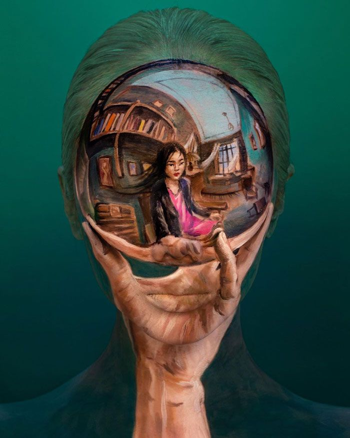 Artista cria ilusões óticas complexas em seu corpo e está bagunçando a mente das pessoas (31 fotos) 29
