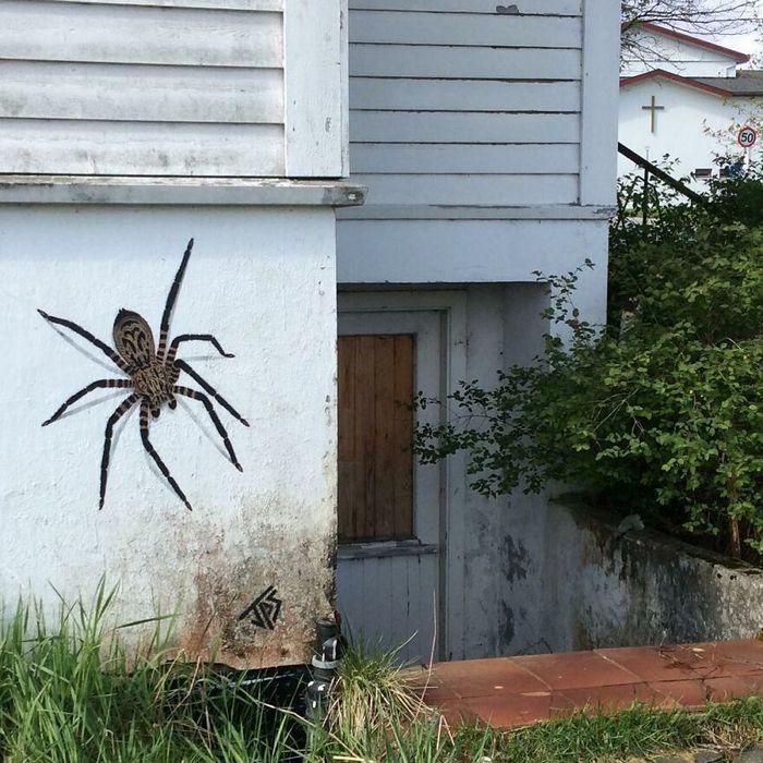 Artista criar grafites que interagem com os arredores (30 fotos) 3