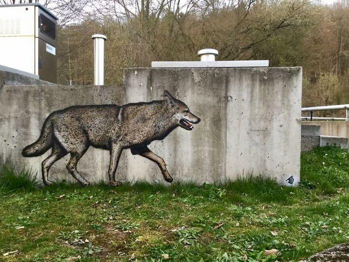 Artista criar grafites que interagem com os arredores (30 fotos) 5