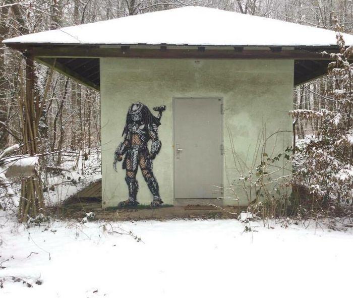 Artista criar grafites que interagem com os arredores (30 fotos) 9