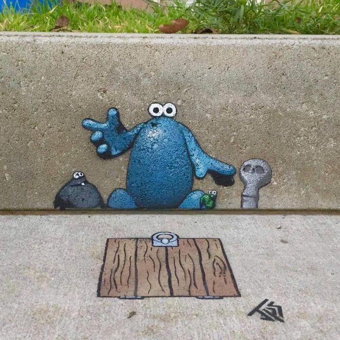 Artista criar grafites que interagem com os arredores (30 fotos) 12