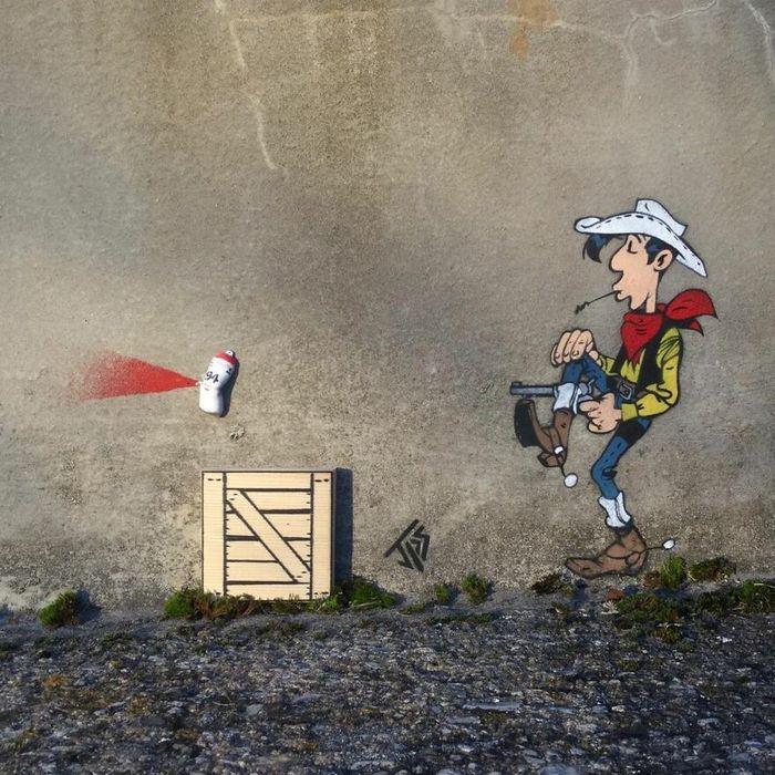 Artista criar grafites que interagem com os arredores (30 fotos) 13